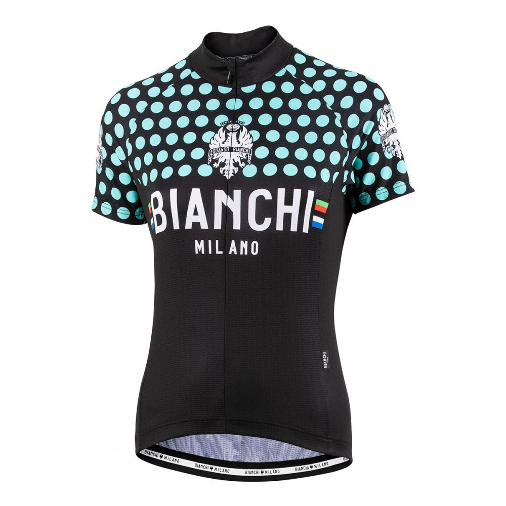 Dámský dres Bianchi Milano CROSIA - černá/celeste 2019
